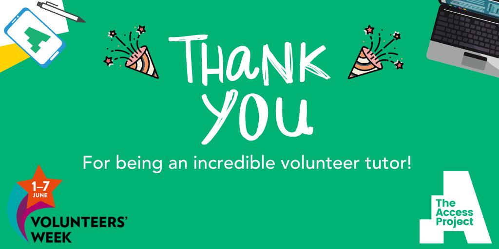 A special Volunteers' Week thank you