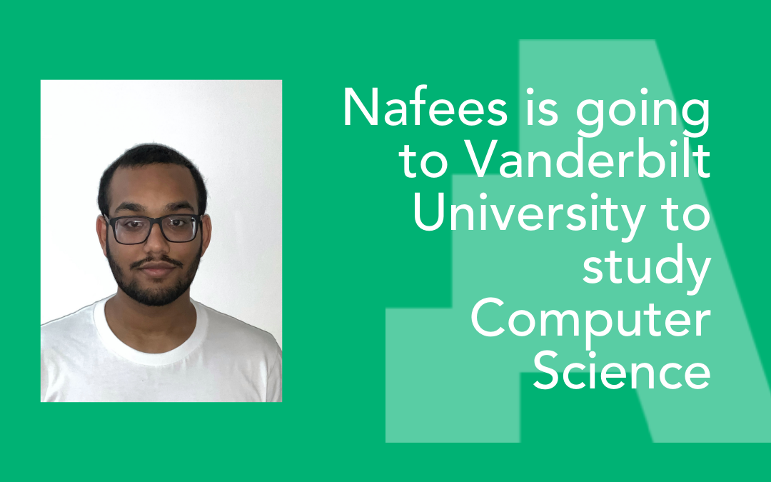 """""""By going to university I hope to be an inspiration to my younger brother"""" – Nafees is going to study Computer Science in the US"""