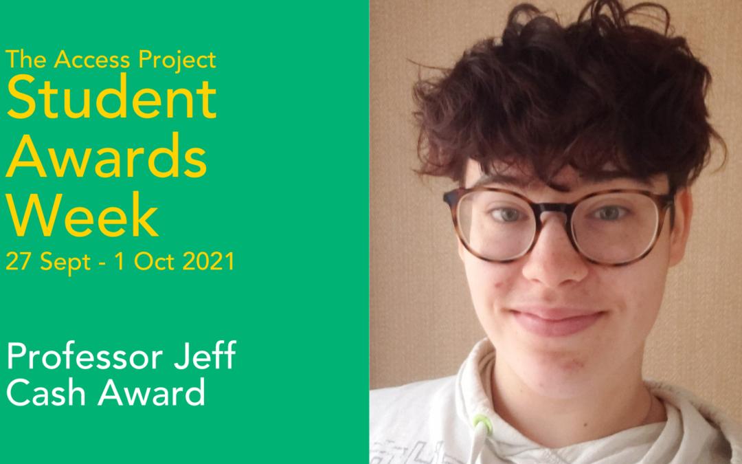 Awards season: Professor Jeff Cash Award winner