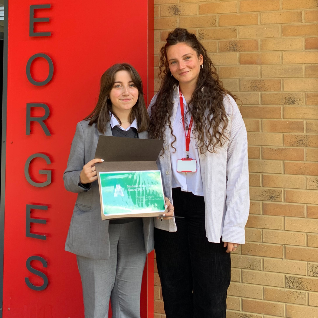 The Access Project student Suzana with her University Access Officer Beth