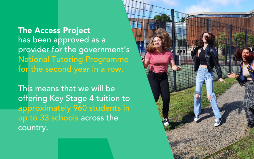 The Access Project approved as National Tutoring Programme provider